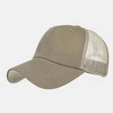 Washed Cotton Plate Color Net Cap Baseball Cap