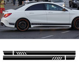 Paar Sport Side Stripes Autostickers Stickers voor Benz W117 C117 X117 CLA AMG