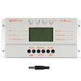 MPPT30 30A 12 فولت / 24 فولت السيارات التبديل شاشة لد الشمسية المسؤول تحكم منظم