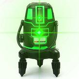 360 ° 5 Линия 6 очков Зеленый свет Лазер Уровень Поворотный Лазер Линия На открытом воздухе Крест Самостоятельный уровень 3D