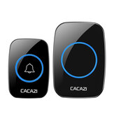 CACAZI LED Smart Doorbell Waterproof 300M Remote Mini Wireless Door Bell 38 Chimes 20-85dB Door Ring