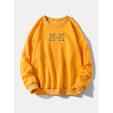 Mens Fashion Pure Color Crew Neck Long Sleeve Sweatshirt