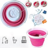 10L Mini Máquina de Lavar Dobrável Balde de Lavagem Automática Lava Roupa de Roupa Secadora para Viagem de Negócios Autônomo