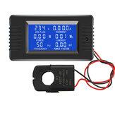 PZEM-022 Abrir e Fechar CT 100A Display Digital Medidor de Monitor de Energia Voltímetro Amperímetro Frequência Medidor de Fator de Tensão de Corrente com Split CT