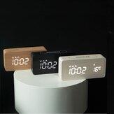 Nouveau Creative Horloge En Bois Rechargeable Électronique Horloge Automatique Temps Réveil De Mode Nordique Style Horloge