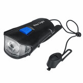 USB Rechargeable LED Bike Light Set Headlights Caution Bicycle Lights with Bell