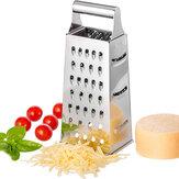 المطبخ متعددة الوظائف الخضار القاطع القطاعة غير القابل للصدأ مبشرة الصلب 4-sided مربع مبشرة الخضار الجبن الخضار أداة