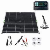 Kit de painel solar 200W 12V Bateria carregador 10-50A controlador para barco de motocicletas