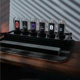 Pszeudo-glow tubus programozható kijelző IPS képernyő RGB óra asztali kreatív díszek digitális óra Colorful LED kép kijelző