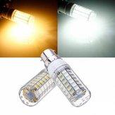 B22 7,5W Branco / Branco Quente 5730 SMD 69 LED Milho Lâmpada 220V