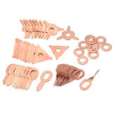 48pcs Stud Welding Kit Accessori Straight Twisted Dent Pulling Anelli Round Star Pads Washer
