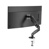 BlitzWolf® BW-MS1 Monitor Stand with Pneumatic Arm, 360° Rotation, +90° to -45° Tilt, 180°Swivel, Adjustable Height and Cable Management