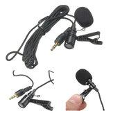 Clipe de gravata 2.4M de alta sensibilidade de 3,5 mm no microfone de lapela e microfone de lapela