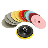 12pcs 4 Inch 50-6000 Grit Diamond Polishing Pads Set untuk Granit Beton Marmer