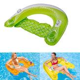 تجمع يجلس Foating الصف الفاخرة نفخ السباحة الهواء مفرش الكبار السباحة Foating السرير عشوائية اللون