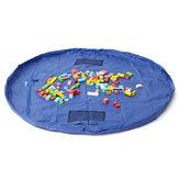 1.5m Large Portable Toys Storage Bag Kids Children Room Tidy Up Toy Bag Carpet Rug