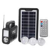 Przenośny zewnętrzny panel solarny 6V 3,5W z super jasną lampą energooszczędną i radiem bluetooth FM