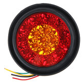 12V 16LED Turn Signal Light Brake Stop Tail Lamp Round For Truck Trailer Lorry