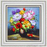 40x50cm 3D Jedwabne Wstążki Kwiaty wiosny Zestaw do haftu Haft DIY Handwork Home Decoration
