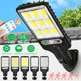 Lâmpada solar de parede LED de 3 modos de movimento Sensor Controle de luz IP65 à prova d'água jardim jardim lâmpada