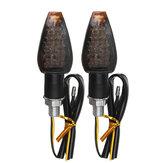 2pcs 12V M10 14 LED Motorcycle Turn Signal Lights Amber Indicator Lamp Universal
