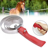 Stainless Steel Equine Sweat Scraper Deshedding Cleaning Loop Comfortable Grip Riding Equipment for Horse Shedding Grooming Tool
