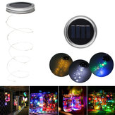 Zasilany energią słoneczną 2M 20 LEDs Mason Jar Lid Insert Fairy String Light do ogrodu Christmas Party Decor