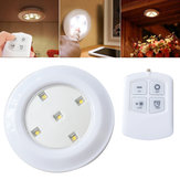 Wireless Remote Control Bright LED Night Light Battery Powered Ceiling Lamp for Kitchen Cabinet