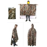 3 In 1 Multifunctional Raincoat Poncho Backpack Camouflage Rain Cover Awning Tent Rainning Clothing