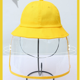 Anti-fog Hat Dustproof Bucket Hat Yellow for Boys and Girls Anti-Dust and Anti-Fog