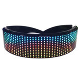 USB Rechargeable LED bluetooth Shining Eye Glasses Magic Party Glasses APP Control