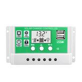 30A 12V 24V सोलर चार्ज कंट्रोलर लिथियम बैटरी एलसीडी डिस्प्ले USB चार्जेड सोलर पैनल चार्जर