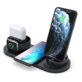 4 In 1 Wireless Charger Phone Charger Watch Ladegerät Ohrhörer Ladegerät Telefonhalter für Smartphone Apple Watch Serie Apple AirPods