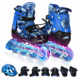 Adjustable Kids Inline Skates with Illuminating Flashing Wheels for Boys and Girls Men and Women