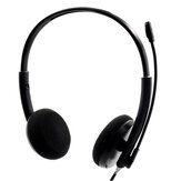 3.5mm USB Stereo Wired Headset with Microphone Headphone Mute for Laptop Mobile Phone