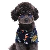 Modne okulary dla zwierząt domowych Piękne okrągłe okulary przeciwsłoneczne w stylu vintage z kotami Odblaskowe okulary dla małych psów kot zdjęcia zwierząt domowych rekwizyty