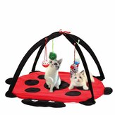 Pet Cat Play Bed Activiteit Tent Speel Toy Exercise Katje Pad Mat Bells House