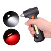 XANES 1448 LED + COB USB Rechargeable Magnetic Work Light Flashlight & Security Hammer&Cutter