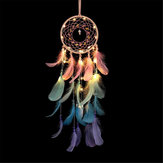Dream Catcher Light Hollow Round Dreamcatcher Dormitorio Sala de estar Decoraciones de pared