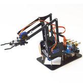 DIY 4DOF Roboterarm 4 Achsen Acryl Rotierenden Mechanischen Roboterarm Mit UNO R3 4 STÜCKE SG90 Servo