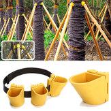 Bahçıvanlık TPR Meyve Ağacı Tespit Desteği Parçalar Bitki Rüzgarın Koruma Koruma Cilt Tutucu Kit