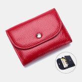 Mulher Couro Genuíno Multifunction Lychee Padrão Coin Bolsa Small Wallet