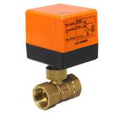 DN15 / DN20 220V 4W Elektryczny zawór kulowy z napędem 2-drogowy 3-drutowe zawory mosiężne