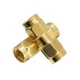 Excellway® CA01 2 pezzi Rame da SMA maschio a SMA adattatore maschio coassiale RF Connettore