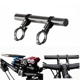 GUB G-202 Sepeda Sepeda Double Handlebar Extension Mount Carbon Fiber Extender Light Lamp Holder