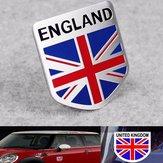 Aluminiowa Anglia Flaga Wielkiej Brytanii Tarcza Emblem Badge Naklejka na samochód Naklejka Decor Universal For Truck Auto