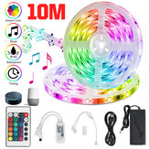 32.8ft RGB LED Strip Lights, Smart Home Alexa Wifi Wireless Controlled Light Strip Rope Kit Decoration Lights Working with Alexa & Assistant with 24key Remote Controller