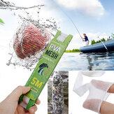 ZANLURE 25/37 / 44x5m PVA Carpa Sacos de embalagem de isca grossa Refil estreito Alimentador de rede de pesca Iscas Malha Equipamento de pesca