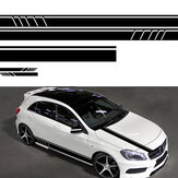 5 piezas Universal Coche Body Stripe DIY Sticker Decal Trim Side Hood Side View Mirror Vinyl
