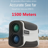[FROM ] DUKA DKW-S Rangefinder 1500M 6X Magnification HD View USB Rechargeable Laser Range Telescope For Hunting Camping Travel